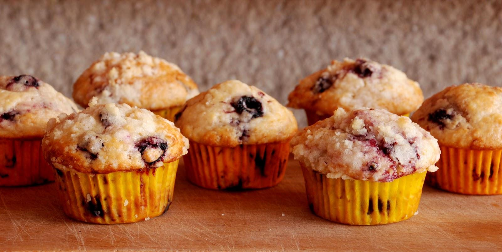 Ostružinové muffiny