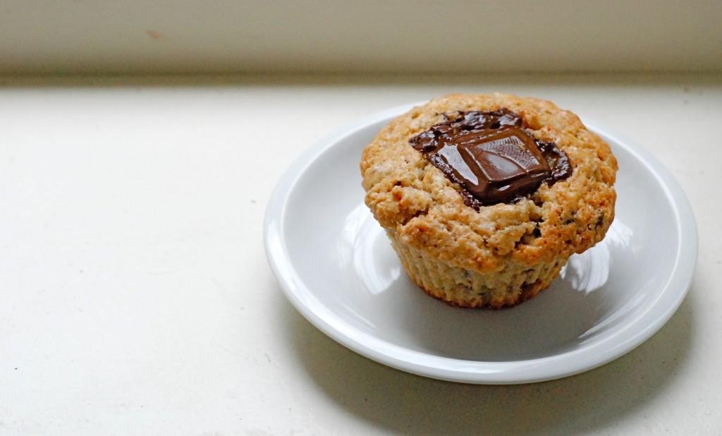 Mandlovo-banánový muffina
