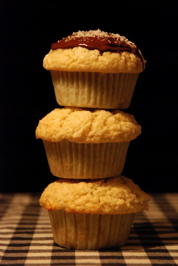 Kokosovo-čokoládové muffiny