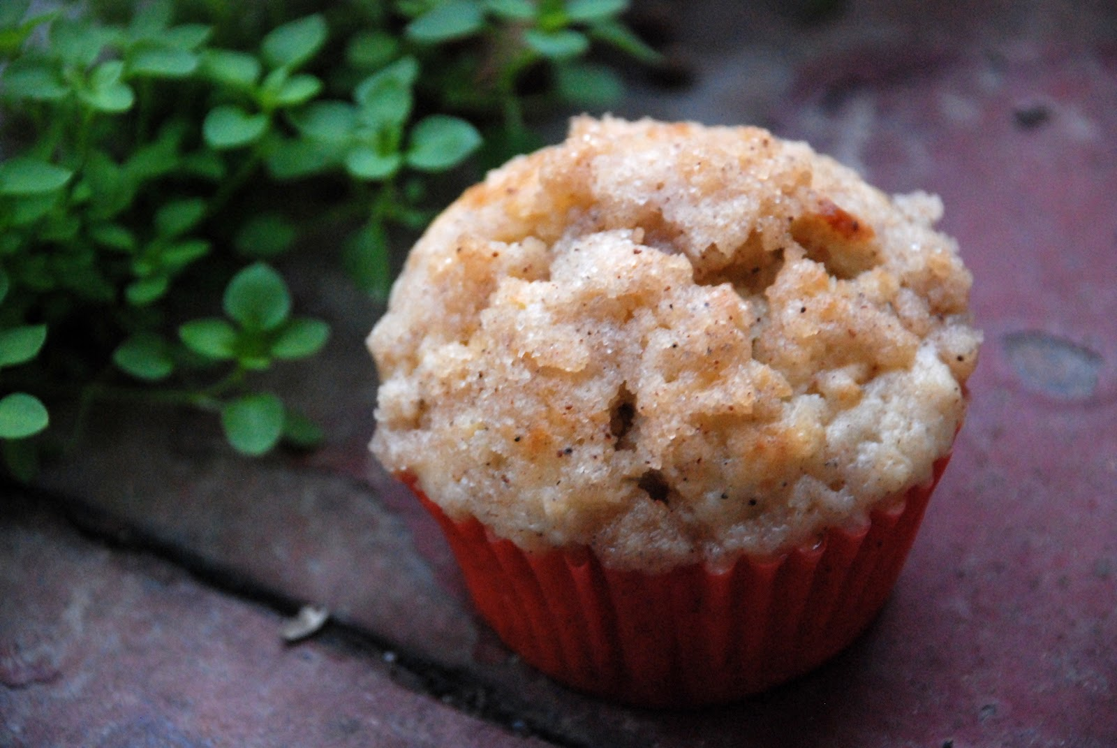 Jablečné muffiny se skořicovou drobenkou