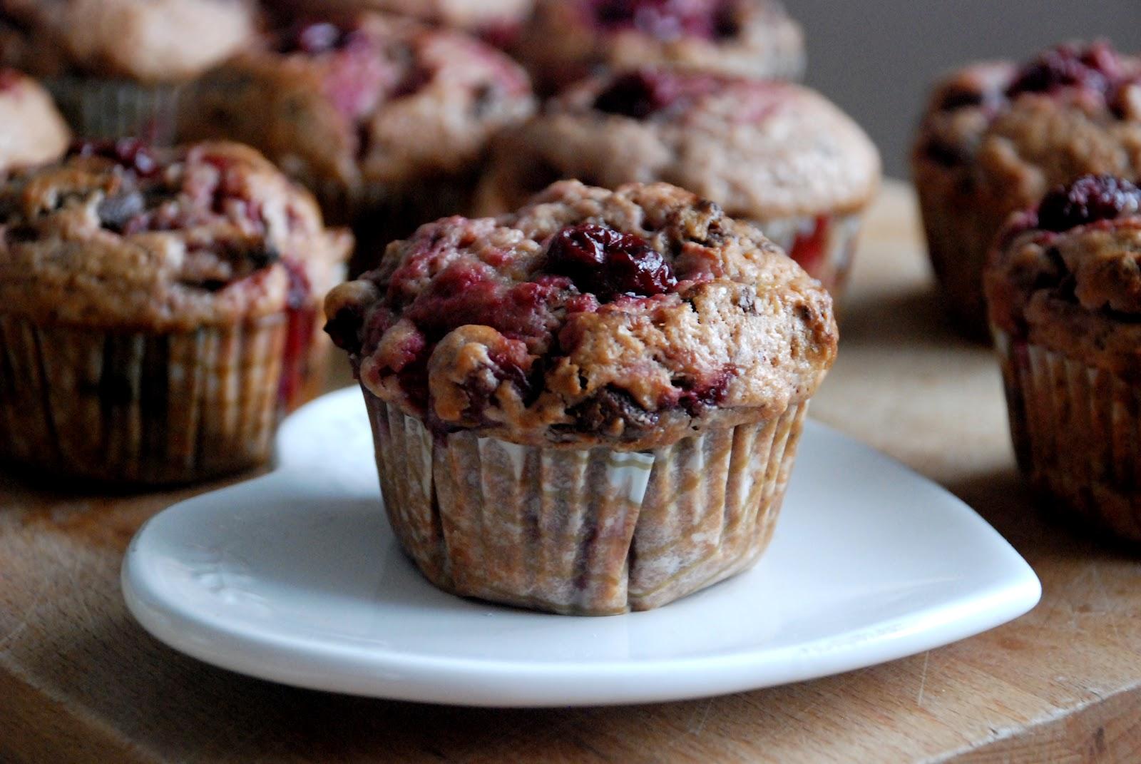 Višňové muffiny
