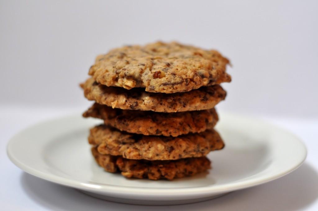 cookies s ořechy a čokoládou