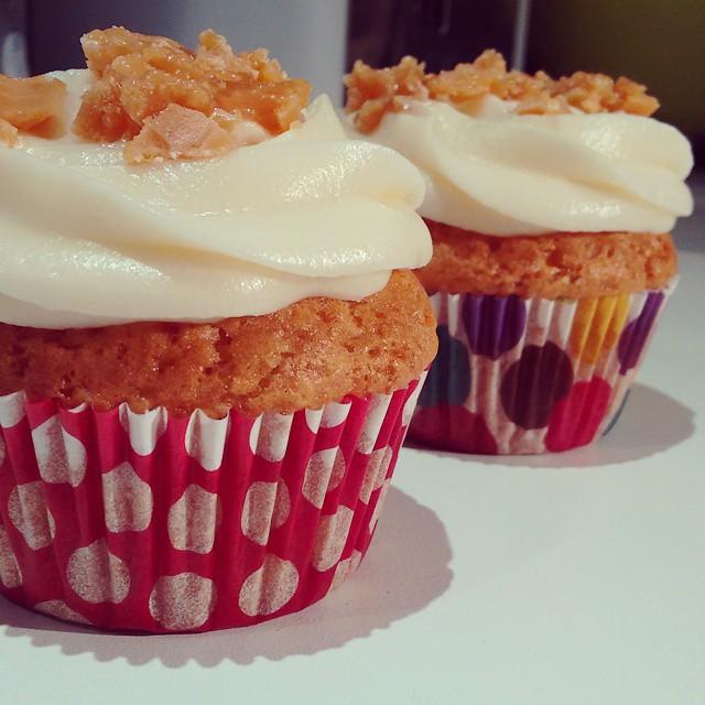 vanilkové cupcakes recept toffees
