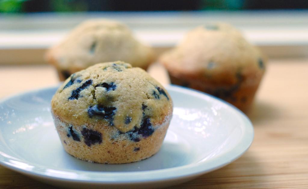 Ty samé borůvkové muffiny  bez drobenky