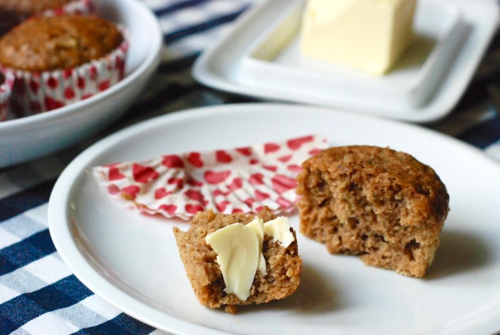 Pohankové muffiny s máslem